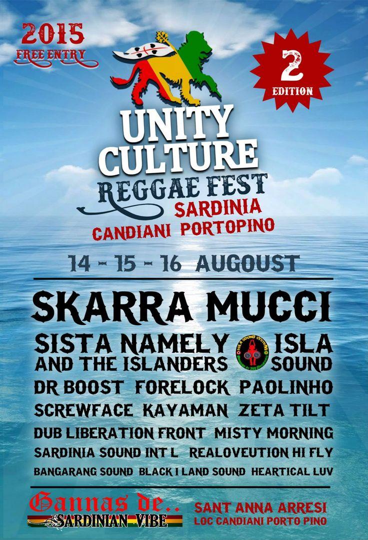 Unity Culture Movement REGGAE FEST 2015 2 th Candiani / Porto Pino Paradise Sardegna