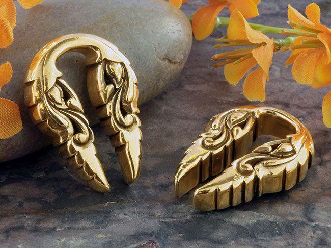 Brass leafy keyhole weights