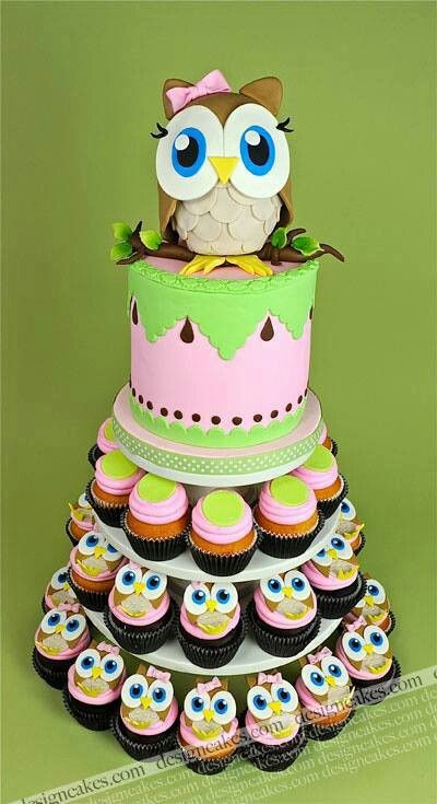 Owl Birthday Cake & Cupcakes ♡ love this, and @Abbey Adique-Alarcon Adique-Alarcon Adique-Alarcon ross ! it's a shame ur birthday just been!! @Abbey Adique-Alarcon Adique-Alarcon Adique-Alarcon ross xxxx
