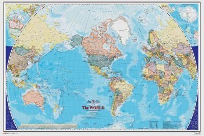 75Feet wide by 5Feet high Prepasted wallpaper mural from a photo of Decorative World Map EnglishEasy to hang remove and reuse hang again if U do as in our demo video 90 Wide X 60 High ** Details can be found by clicking on the image.