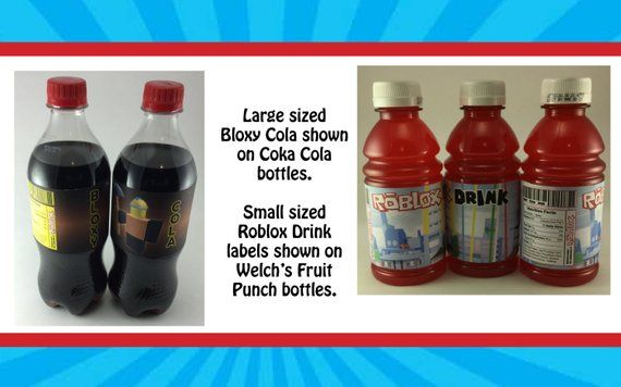 Hot Drinks Roblox Roblox Themed Water Bottle Label Etsy Water Bottle Labels Drink Labels Bottle