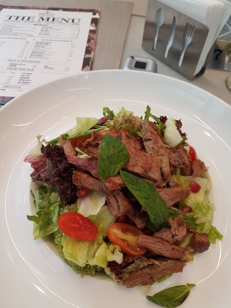 Thai beef salad...doesn't beat Manly's Wokbar tho