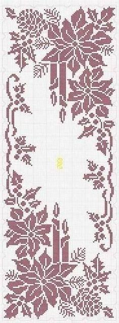 Wreszcie udało mi sie znależć wzór na swiąteczną, bożonarodzeniową serwetę, z motywem gwiazdy betlejemskiej i połączyć je ze zdjeciem już ...
