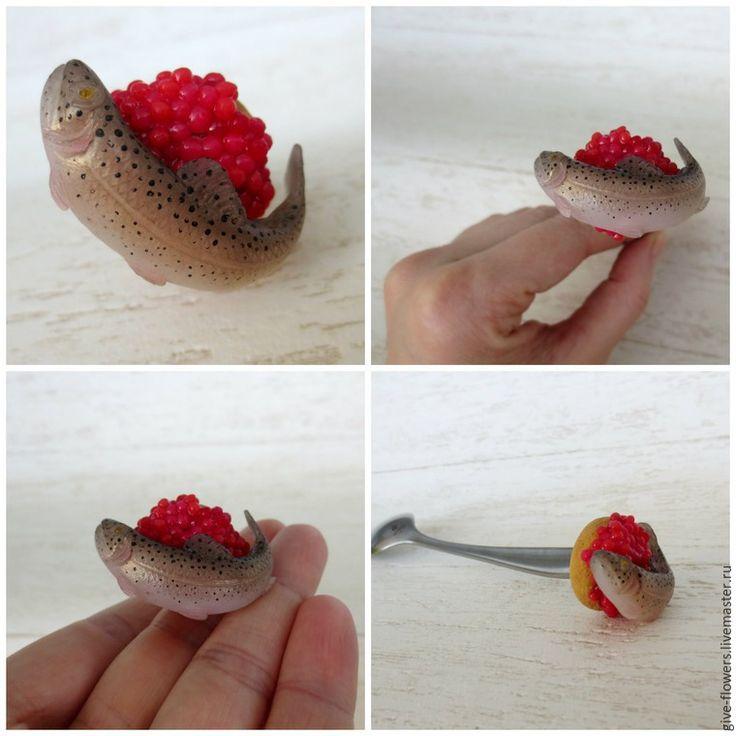 Декоративные рыбки из полимерной глины - Ярмарка Мастеров - ручная работа, handmade