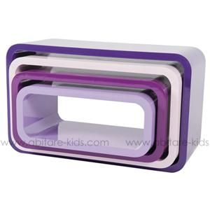 OVAL by Sebra Lot de 4 étagères Violet - 29214853 - Abitare Kids