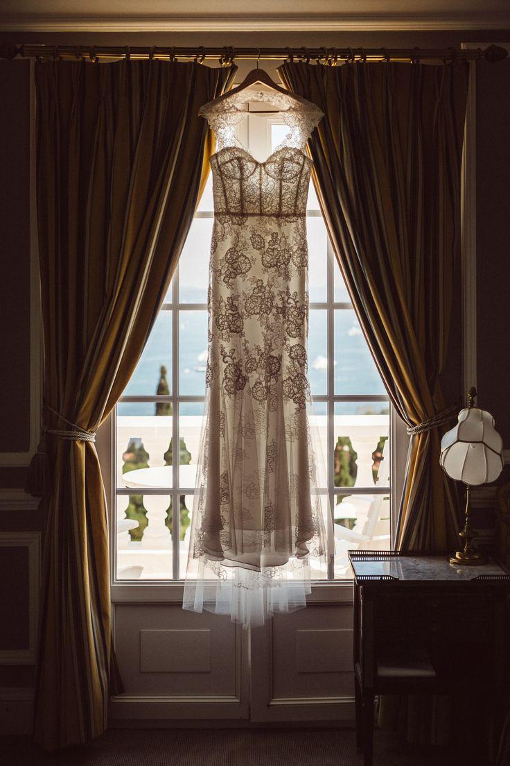 Monique Lhuillier wedding gown; VENUE Hotel Villa Belrose, St. Tropez France, PHOTOGRAPHY Joel + Justyna Bedford, destination wedding photographers