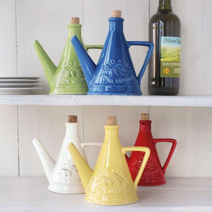 Italian Olive Oil Bottles, always a good kitchen display item