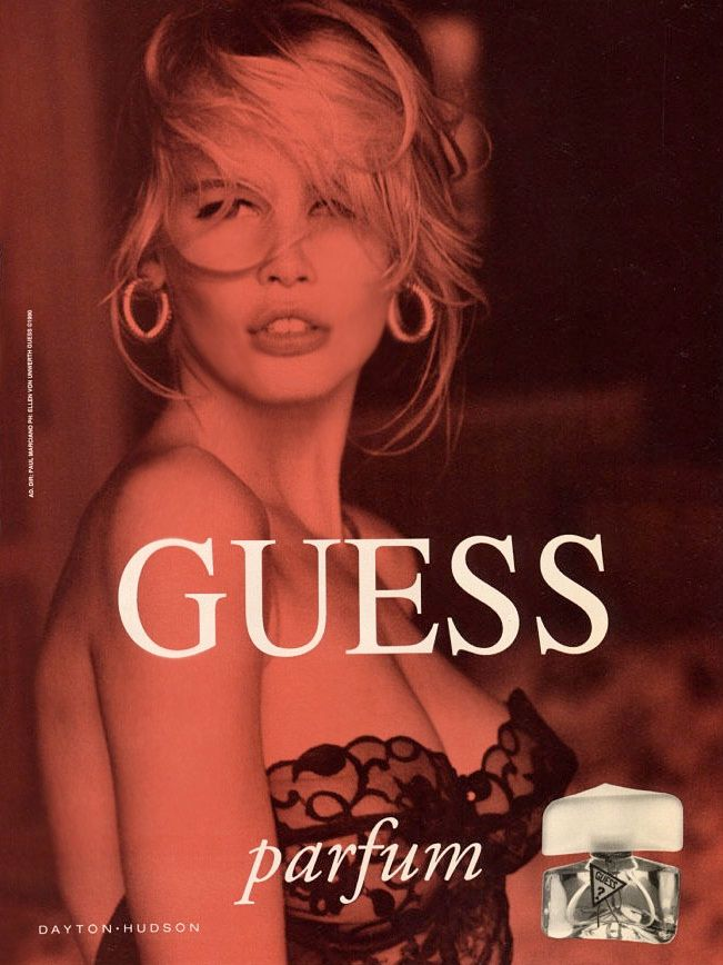 Claudia Schiffer Vintage Guess Ads - FASHION SIZZLE