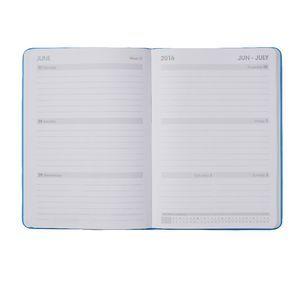 J.Burrows A5 Week to View 2016 Fun PU Diary Blue