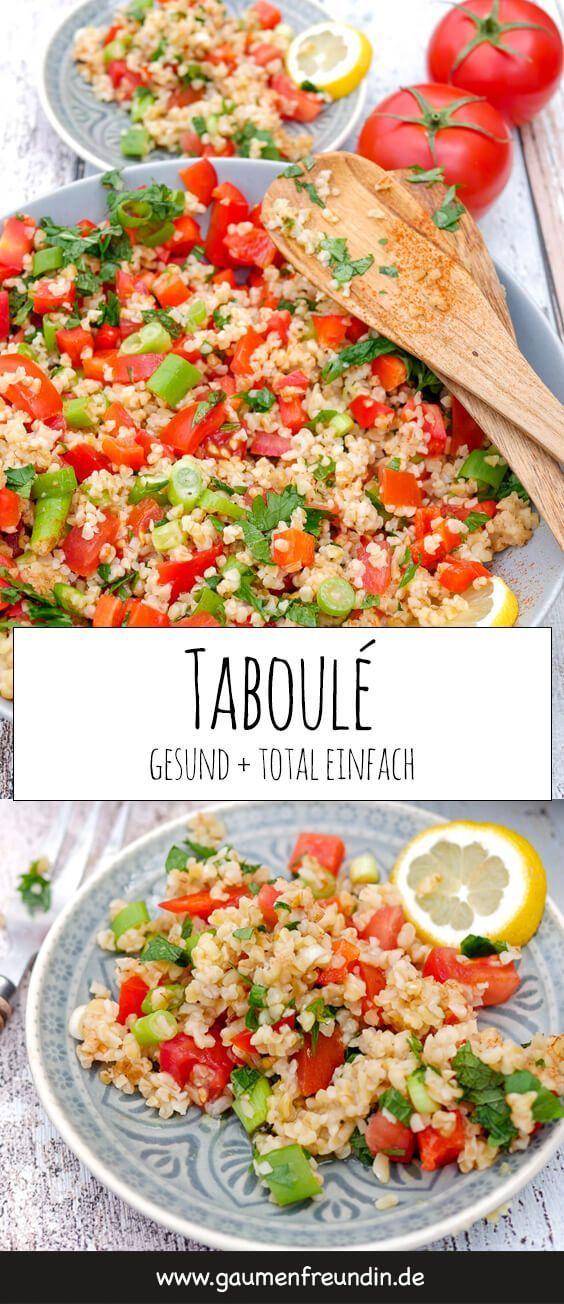 Tabouleh – Bulgursalat mit Tomaten und Petersilie – MITTAGSPAUSE IM BÜRO