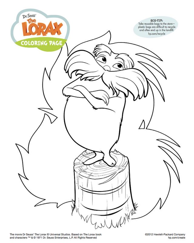 118 best the lorax images on pinterest | the lorax, dr suess and ... - Dr Seuss Coloring Pages Lorax