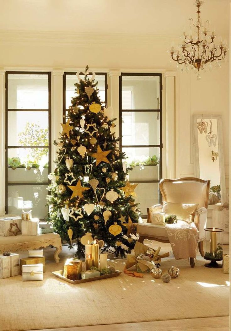 Fair Sweet Living Room Interior Design With Fabulous White And Yellow Christmas Decor Use J K