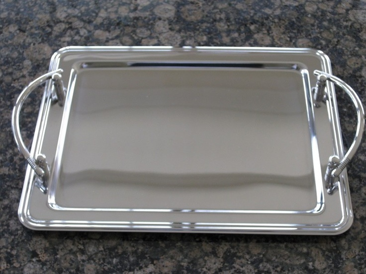 Stefana Tray - Rectangular Stainless Steel, $79.00 at Greek Wedding Shop ~ http://www.greekweddingshop.com