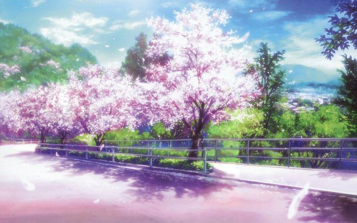 Imagenes de flores de cerezo anime - Imagui