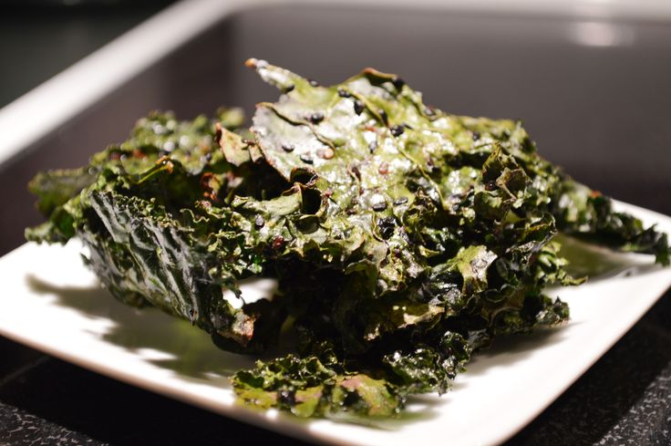 Wasabi Soy Kale Chips One bunch of kale from the farmer's market ...