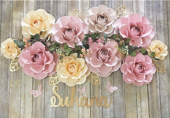 Paper Flowers Backdrop Party Decoration Photo Backdrop Wall Decor