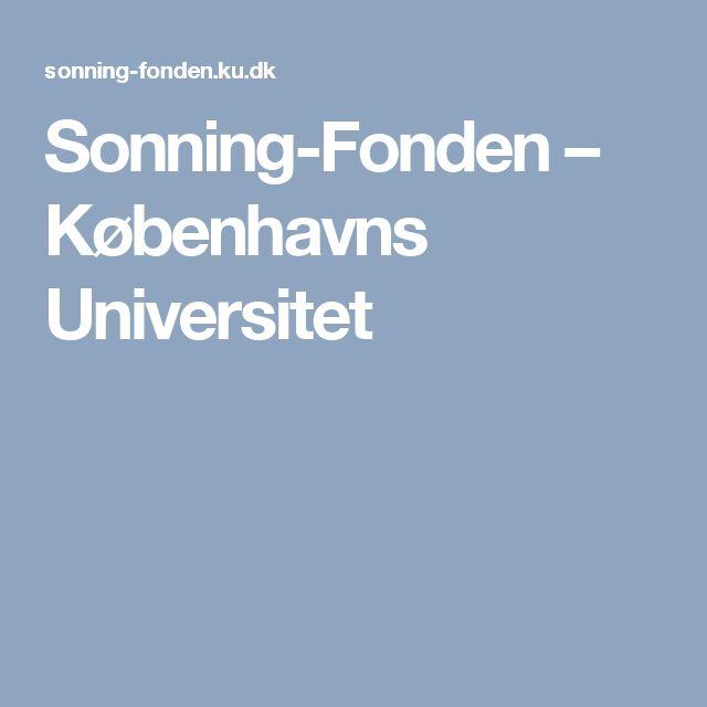 Sonning-Fonden – Københavns Universitet