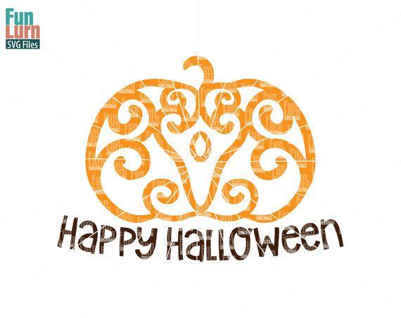 Halloween SVG Simple Zentangle Pumpkin SVG Doodle  by FunLurnSVG