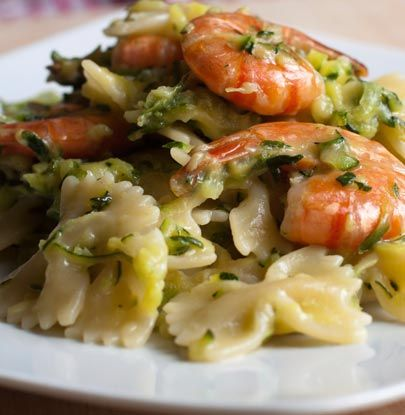 Making a classy dinner is easier than you think. Try this bow tie pasta with a sweet wine sauce and shrimp. Classy made easy