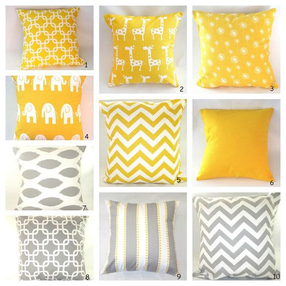 Pillows Decorative Pillow Decorative Pillows by PillowsByJanet, $15.00 Love the yellow and grey combo
