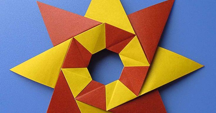 Origami, facile stella modulare, foto, istruzioni, diagrammi, Francesco Guarnieri