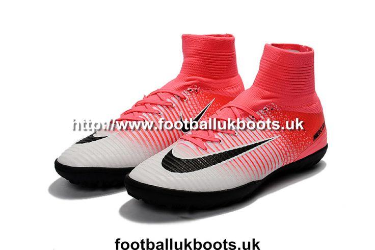 Luxury Kids Football Boots Nike MercurialX Proximo II TF - Race Pink/Black/White