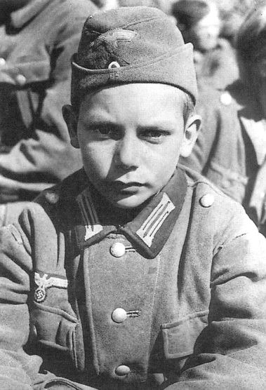 13-year old Hitler Youth captured by the Allies near Nartinzell, 1945