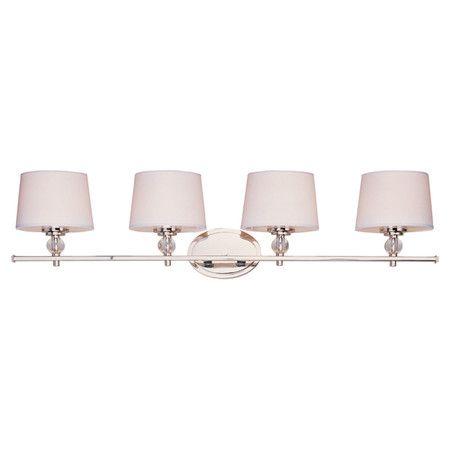 4 bulb vanity light farmhouse style mara 4bulb vanity light in polished nickel at joss main light pinterest bathroom lighting lighting and