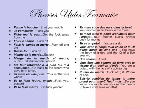 You can learn quite a bit about people: French expressions NOT for Kids!
