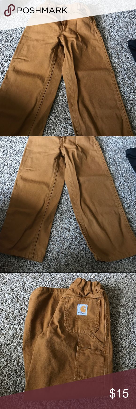 Perfect condition! Boy's Carhartt pants, size 6 Worn once! Perfect condition. Adjustable waist band, size 6. Carhartt Bottoms