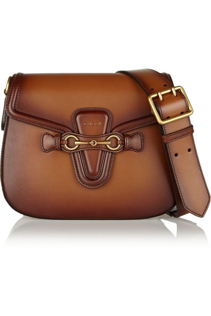 Gucci|Lady Web medium leather shoulder bag2.700 |NET-A-PORTER.COM