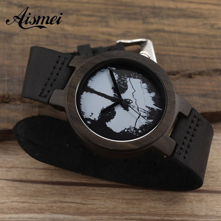 Aliexpress.com : Buy Wood 2016 New arrive wood Watches Fashion Quartz Men Women Wristwatches Skull Black Genuine Leather watch Relogio Masculino from Reliable leather watch fob suppliers on Topsell Fashion Trading CO.,LTD