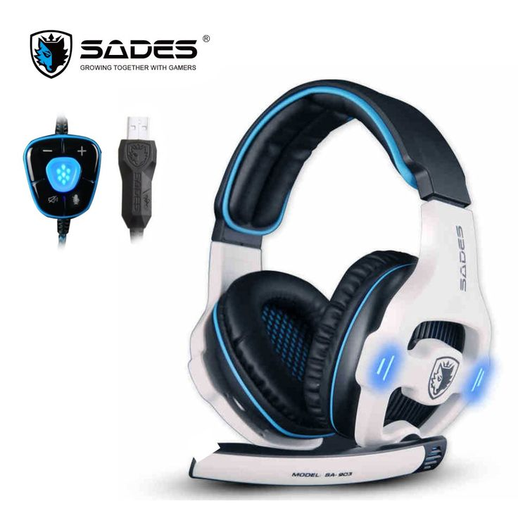 Cheaper US $29.99  SADES SA903 Professional Gaming Headset 7.1 Channel USB Headphone With Mic Remote Control Headphones For Computer Gamer with led  Available latest products: Laptop