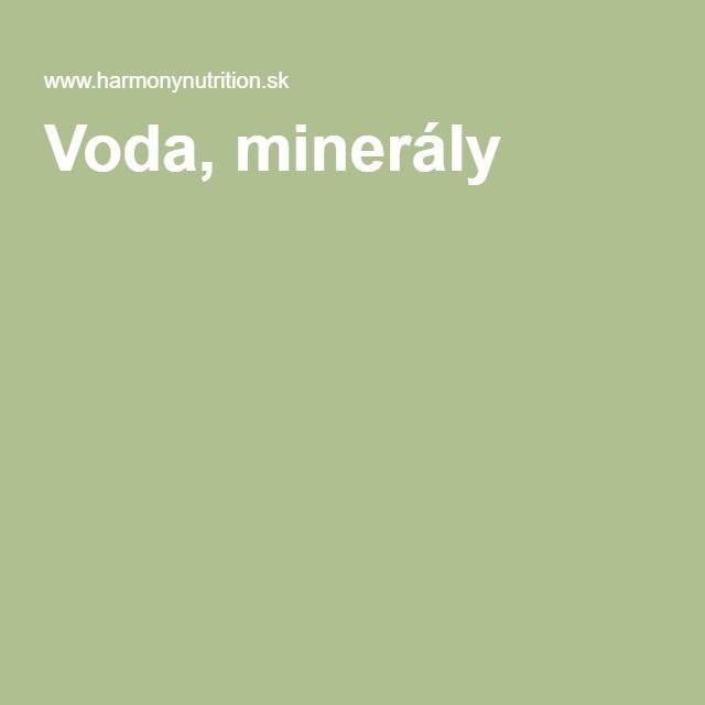 Voda, minerály