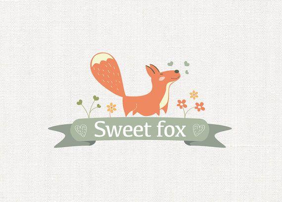 Fox Logo Design Baby Boutique Logo design Kid's by MelimeBabyArt