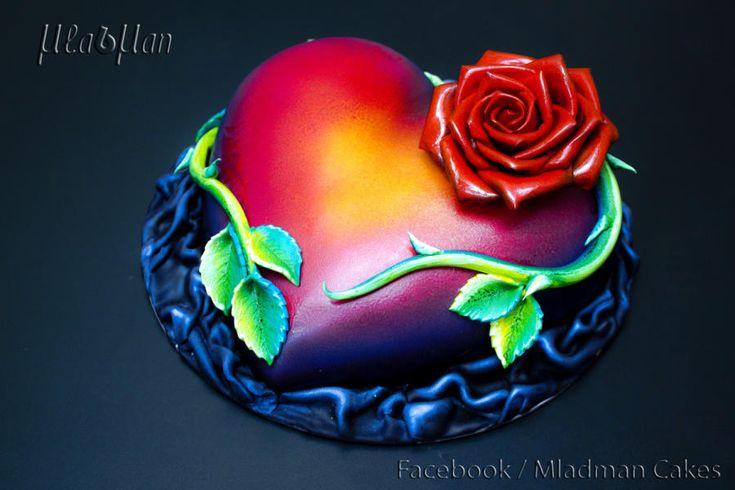 Tattoo Heart - Cake by MLADMAN