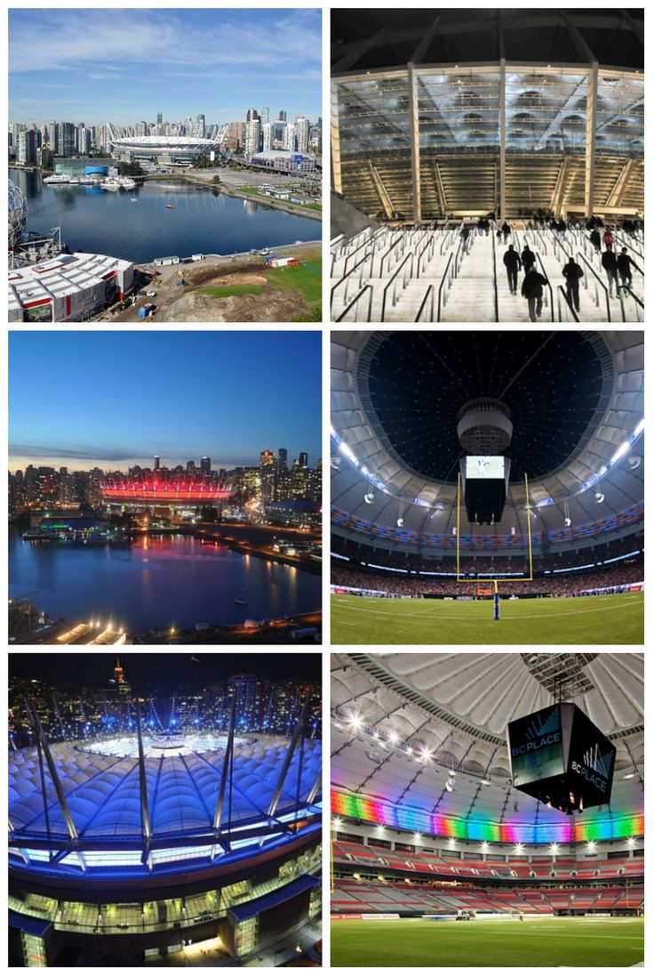 Аранжировка стадиона Ванкувер Скайлайн с Lumenpulse LED оснасткой