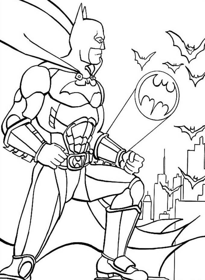 Bat man colouring sheet Di colouring activities Pinterest