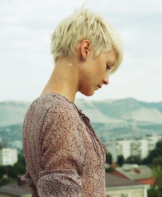 Short Pixie Hair Styles: Very Short Back with the Slightly Longer Front