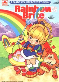 19 different Rainbow Brite coloring books from the 1980s you can download and print free.