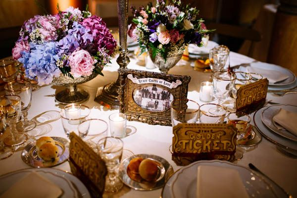 vintage circus wedding table - photography by Maison Pestea - see more on http://weddingwonderland.it/2014/01/vintage-circus2.html