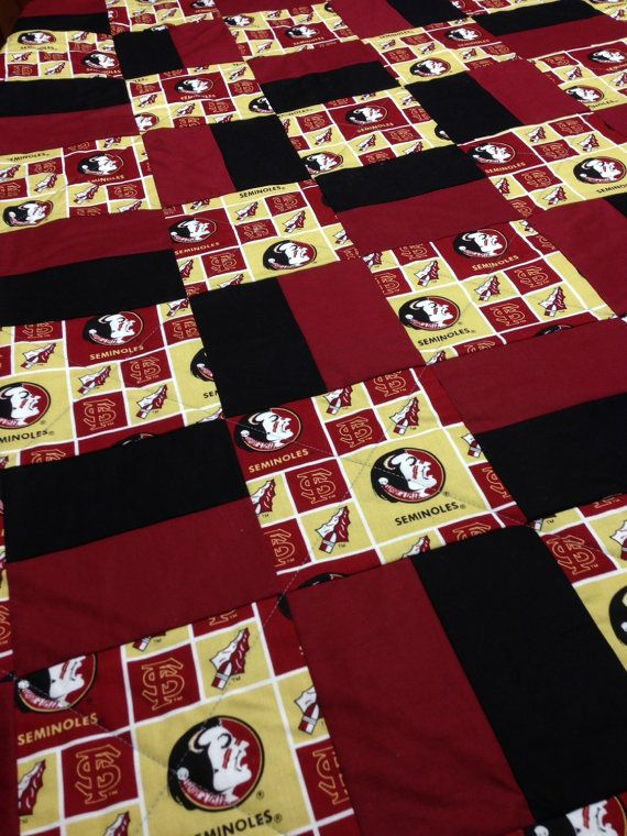 Florida State University Quilt by RosehillQuilting on Etsy                                                                                                                                                     More