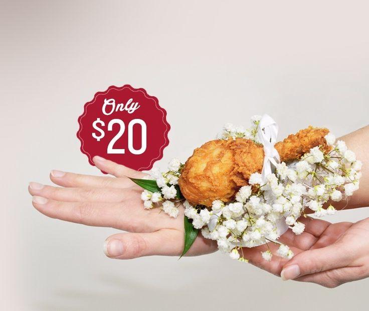 今年のプロムはこれでキメよう!KFCが提案する「チキン・コサージュ」 | AdGang