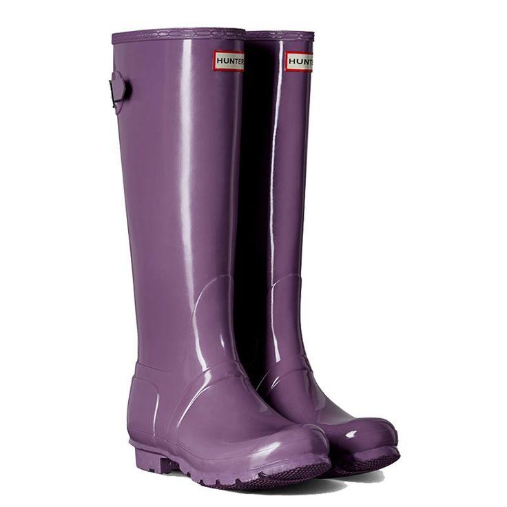 WFT1001RGL-DLV Hunter Women's Adjustable Gloss Rain Boots - Lavender  www.bootbay.com