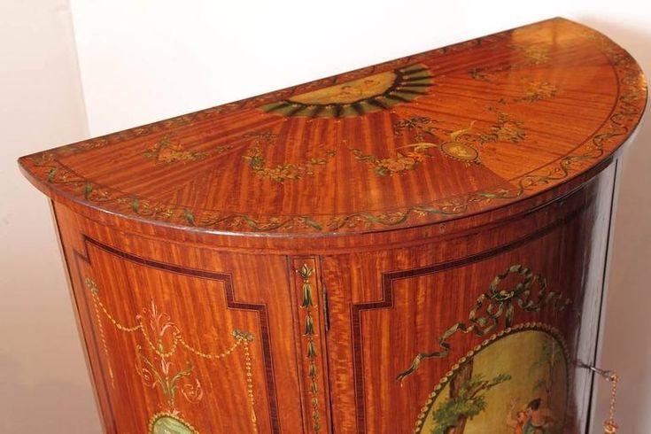 angol klasszikus antik szekrény