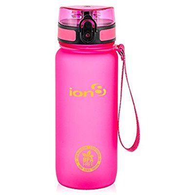 ion8Wasser-Flasche, auslaufsicher, Bisphenol-A-frei L frosted pink