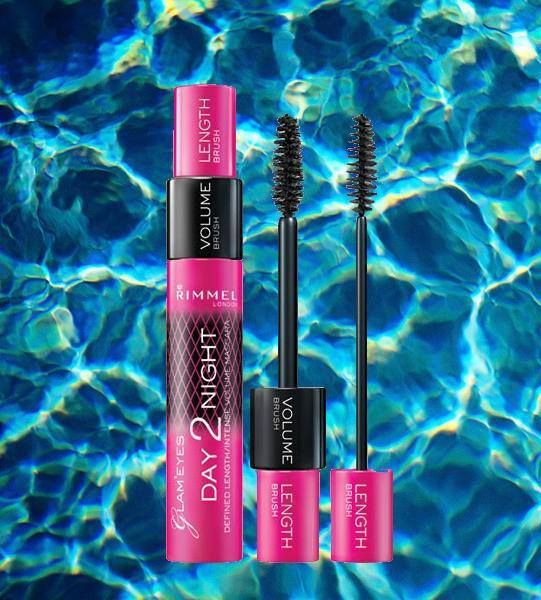 Rimmel Day 2 Night - $3.46 Mascara is one beauty product we can't live without! Don't have time for a full face of makeup? Transform your look with a swipe of mascara! Volume or length? Why not both? #Rimmel #Day2Night #mascara #water #waves #pink #length #volume #eyes #lashes #makeup #beauty #cosmetics #fashion #girly #Canada #retail #outlet