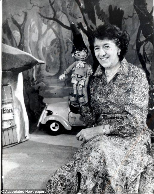 """Enid Blyton, British children's book  author and illustrator. The """"Golliwog""""  toy starred in her stories."""