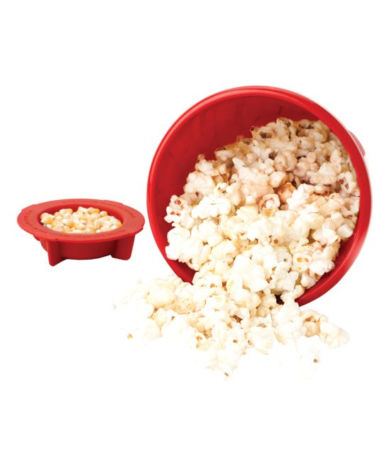 Red Microwave Popcorn Maker