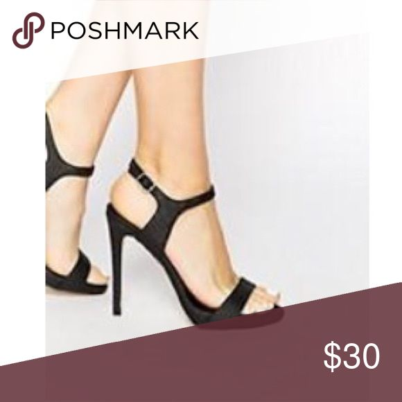 New Look barely there heeled sandals NEW LOOK / Comfortable sandal / Black / true to size New Look Shoes Heels